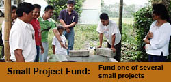 donate to a small project in sustainable development in Ecuador