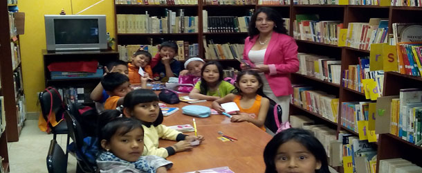 a volunteer placement in Cuenca in a library for after-school help