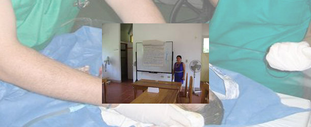 a natural birthing clinic in the Ecuadorian Amazon for volunteer midwives gaining valuable experience