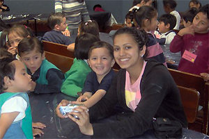 A volunteer project in Quito with children with learning and motor skills difficulties